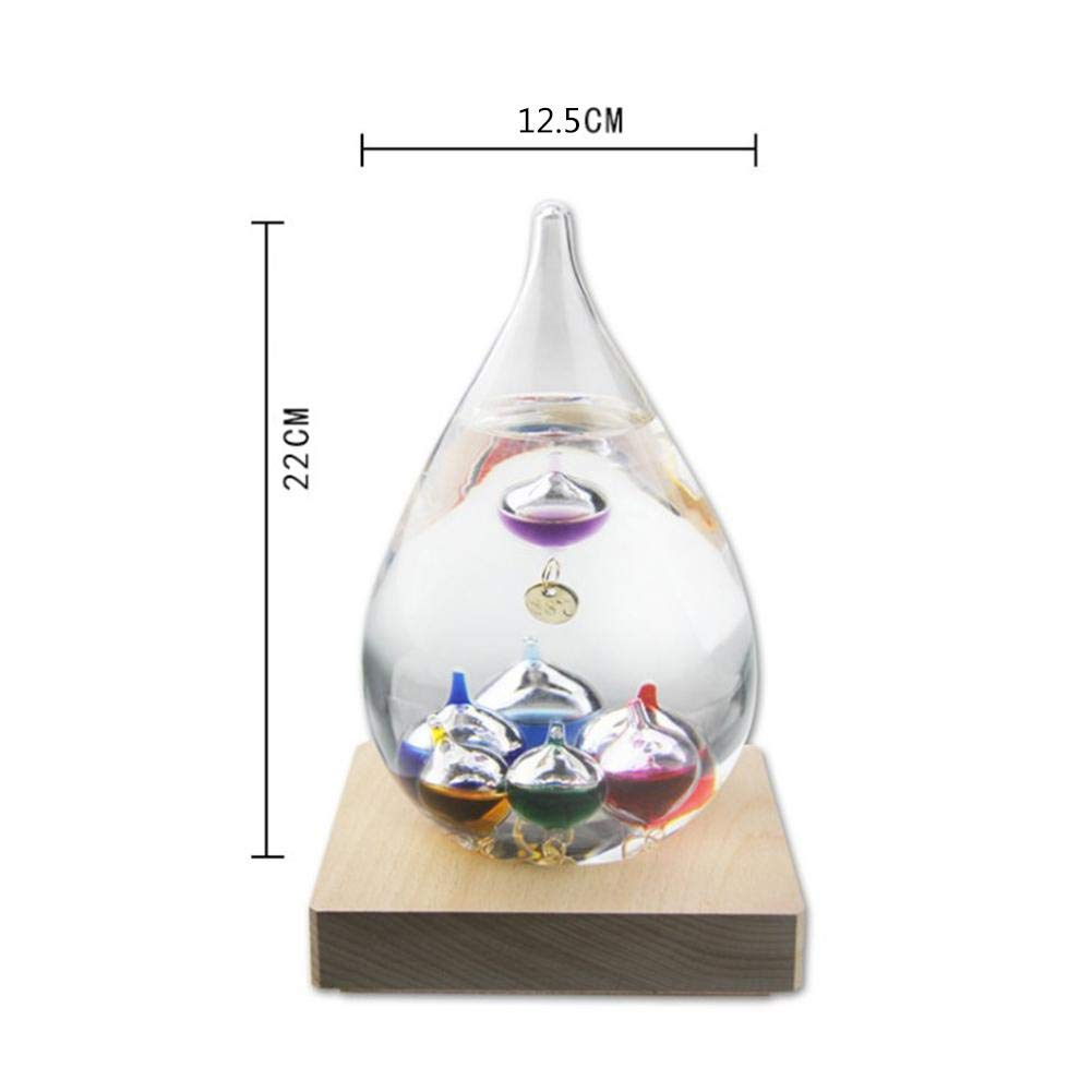Ruier-hui Galileo Weather Indoor Thermometer - Creative Floating Colored Balls Glass Weather Foreboding