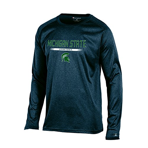 - NCAA Michigan State Spartans Men's Champion Team Core Long sleeve Tee, Charcoal Heather, X-Large