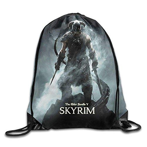 The Elder Scrolls Skyrim Logo Drawstring Backpack Sack Bag