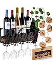 Wine Bottle Holder Cork Storage (Brown) Store Red, White, Champagne with Cork Wine Charms Home & Kitchen Decor Heavy-Duty Storage Rack Easy Instal Designed by Anna Stay, Wine