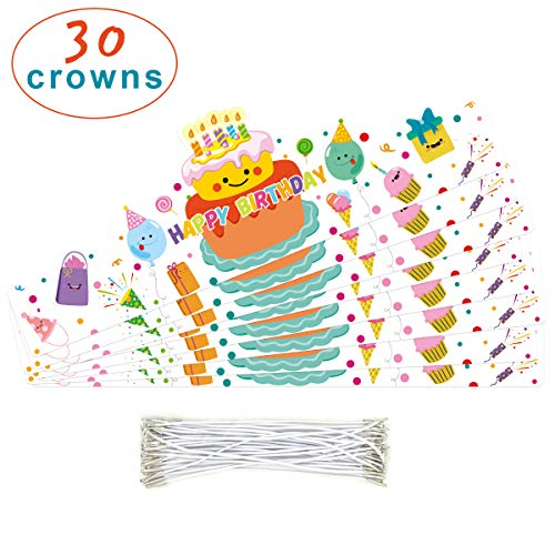 30 Birthday Crown confetti-Themed for Classroom Birthday Party Hats School Party Supply - http://coolthings.us
