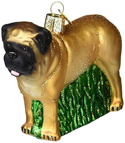 Old World Christmas Dog Collection Glass Blown Ornaments for Christmas Tree English Mastiff