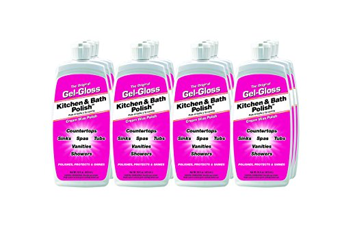 Gel-Gloss GG-1.FCP-12PK Liquid Kitchen and Bath Cleaner and Polish - 16 fl. oz, (Pack of 12) (Spa Polish Gloss)