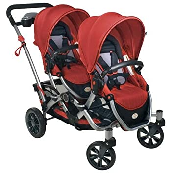 Amazon.com : Kolcraft Contours Options Tandem Stroller, Ruby : Baby