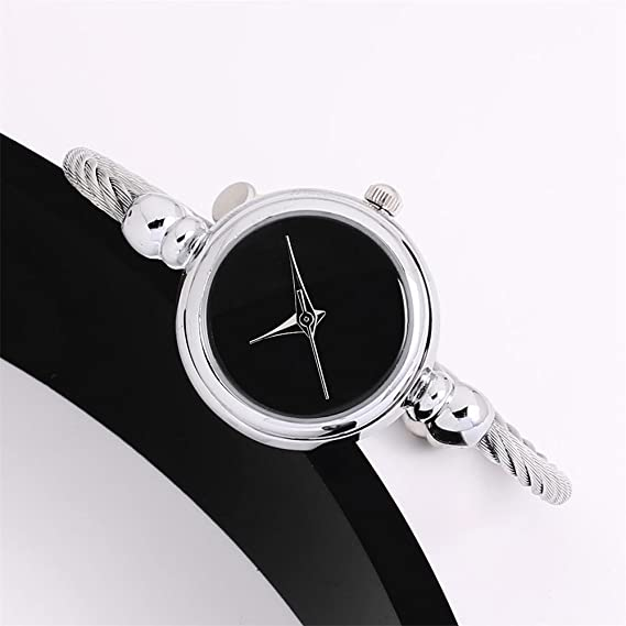 Amazon.com: Simple style watches for Womens Glass Mirror Bracelet Watch Circular elegant,GIENLO (Silver): Cell Phones & Accessories
