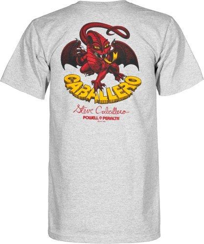 (Powell-Peralta Cab Classic Dragon Gray T-Shirt, XX-Large)