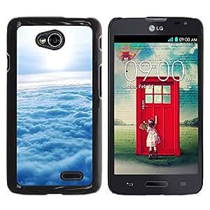 Paccase / SLIM PC / Aliminium Casa Carcasa Funda Case Cover - Nature Cloud Sunshine - LG Optimus L70 / LS620 / D325 / MS323