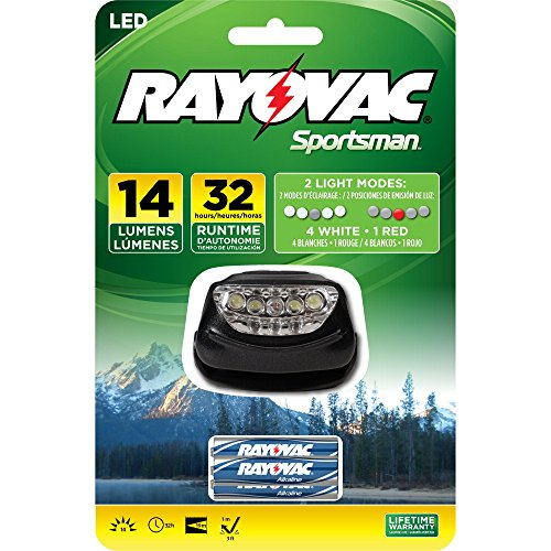 Rayovac Sportsman 14 Lumen 3AAA 5-LED Headlight with Batteries (SE5LEDHLT-BA)