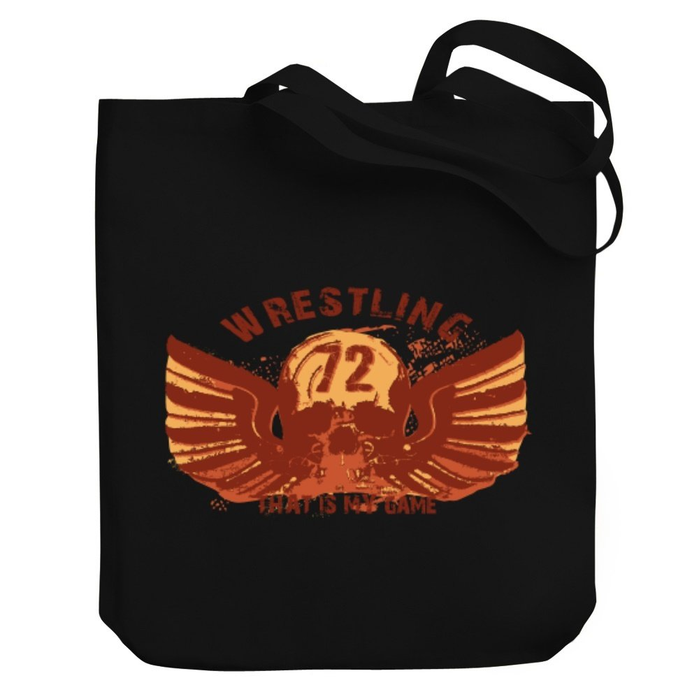 Teeburon Wrestling THAT IS MY GAME Canvas Tote Bag