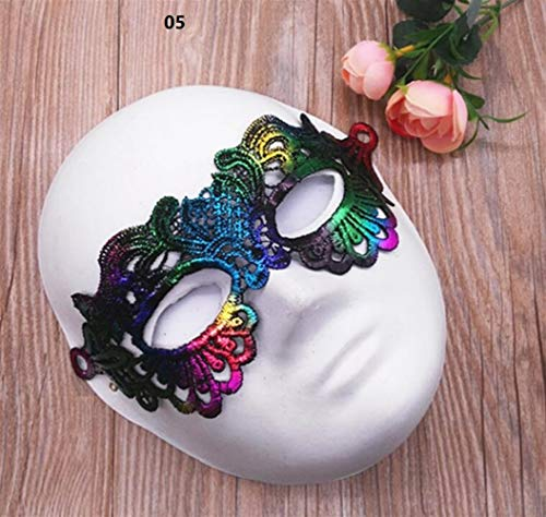 (Classic Cute Party Ornament Halloween Party Hot Stamping Lace Mask Ladies Sexy Prom Veil(05))