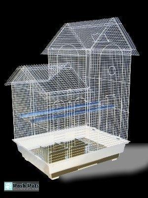 Jaula de pájaro Chatsworth grande con barras estrechas de color ...