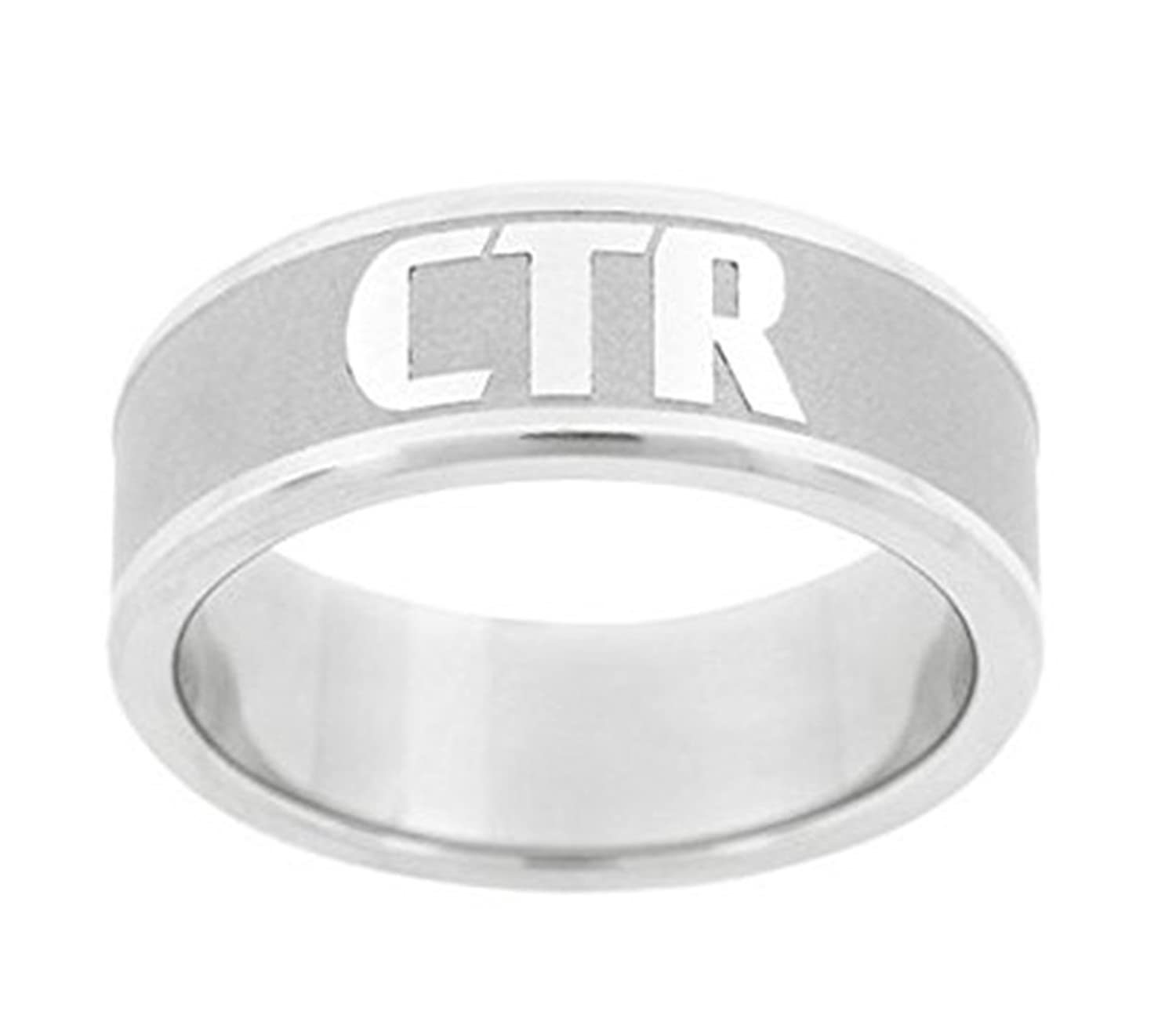 """Frost"" - CTR Ring - Stainless Steel - J151 - One Moment In Time"