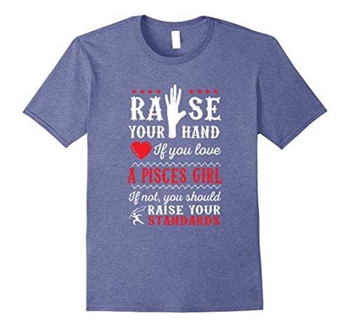 Womens Love Pisces Girl Funny Horoscope Shirt Large Heather Blue (Pisces Horoscopes Love)