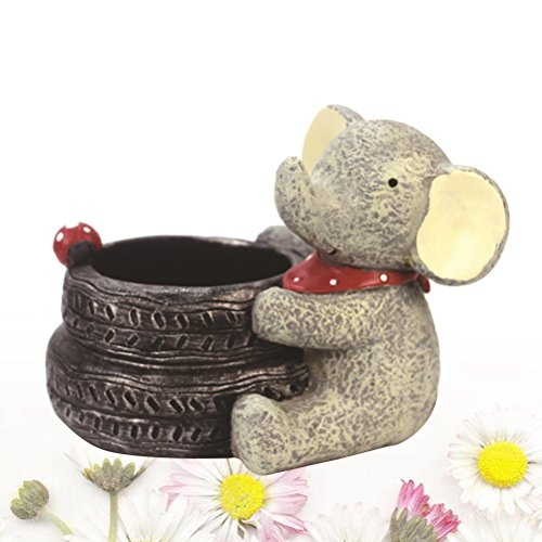 VORCOOL Cartoon Elephant Flower Pots Children's Room Desktop Decor Potted Flowerpot Creative Home Decoration Flower Vase by VORCOOL (Image #8)