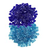 MagiDeal 500 Piece Square Shape Glass Mosaic Tiles Tessera for Art DIY Crafts Blue 10x10mm