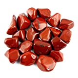 Crystal Allies Materials: 1/2lb Bulk Tumbled Red Jasper Stones from South Africa - Large 1'' Polished Natural Crystals for Reiki Crystal Healing *Wholesale Lot*