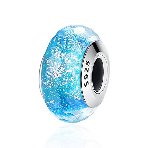 - FOREVER QUEEN Murano Glass Charm Bead for Pandora Bracelets Pandora Charm 925 Sterling Silver Disney Pendant DIY Jewelry Making Idea for Wife Girlfriend Daughter Sister BJ09074