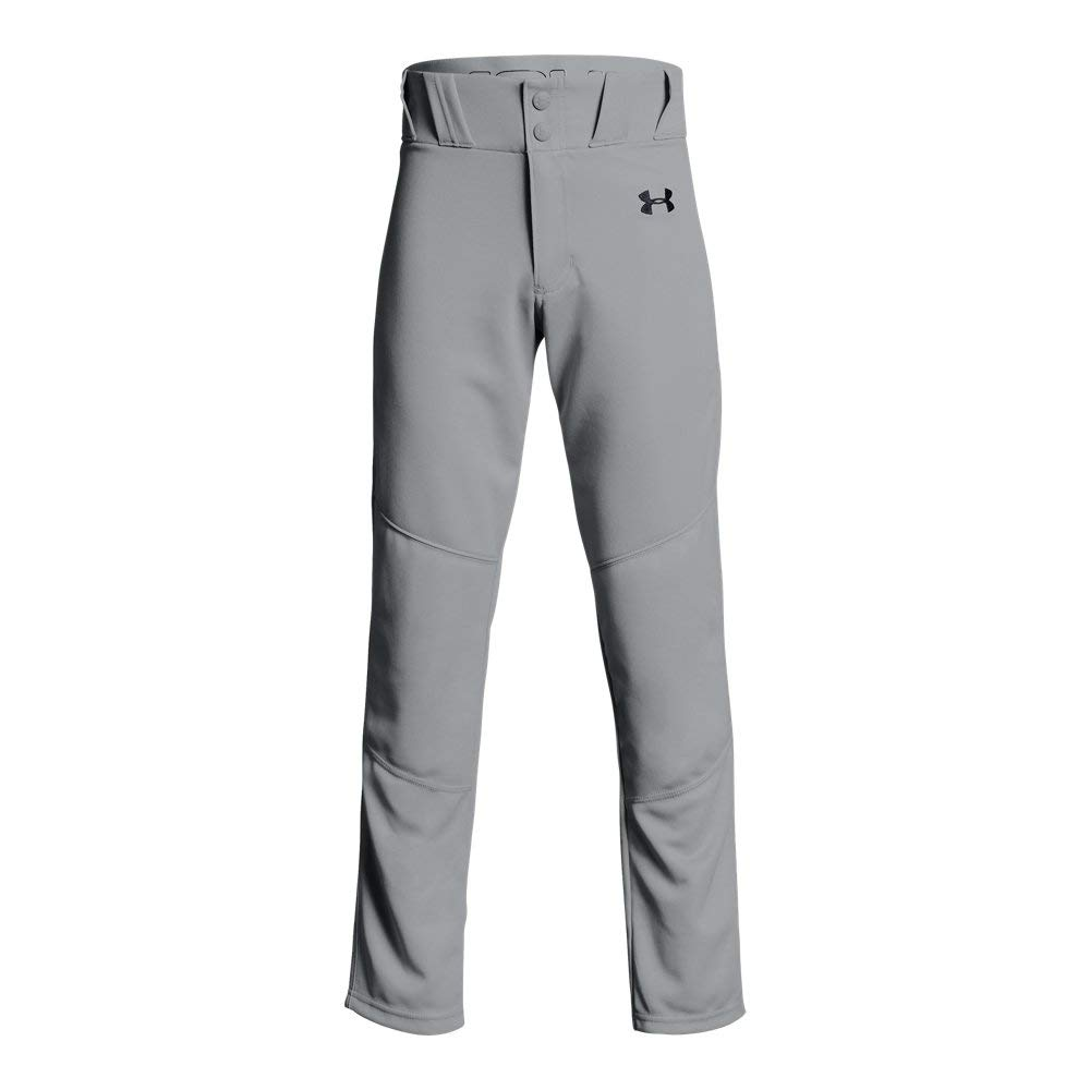 Under Armour Boys Utility Relaxed Baseball Pant, Baseball Gray (080)/Black, Youth Large by Under Armour
