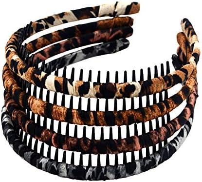 4PCS  French Headbands Teeth Comb Hairband Hair Hoop Accessory for Women Girls