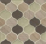 Bedrosians GLSPANMOHRDP ''Panache'' Mosaic with Rain Drop Pattern on Sheet, 10'' x 10-1/2'', Mohair