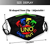 Uno Out 2021 Reusable Washable Cloth Face Mask with