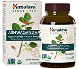 Himalaya Organic Ashwagandha, Adaptogen for Stress-relief, Cortisol level support and Energy Boost, 60 Caplets, 670 mg 2 Month Supply