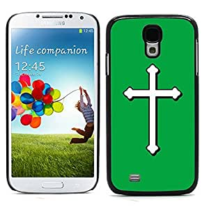 Graphic4You Cross Design Hard Case Cover for Samsung Galaxy S4 S IV (Green)