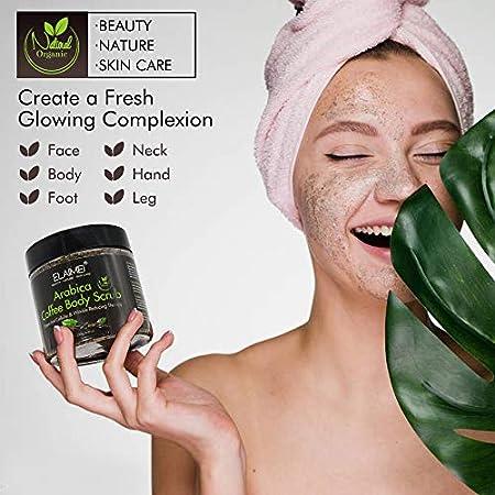 Exfoliante de Café Natural Bio Facial Corporal y Pies Anticelulítico Reafirmante Drenaje Hidratante Piel Grasa y Seca Mascarilla Facial Curar Acné Para Hombres y Mujeres