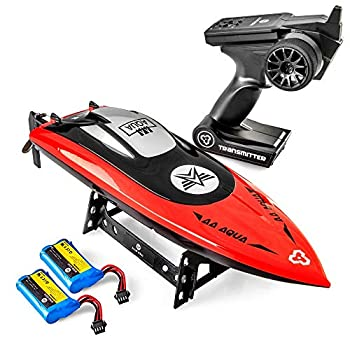 Altair AA102 RED RC Boat for Swimming pools or Lakes [Ultra Fast Pro Caliber] Free Precedence Transport | Water Security Propeller & Self Righting System | 2 Batteries Included | 30 km/h (Lincoln, NE Firm)