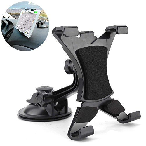 MAYOGA Car Tablet Mount Holder, Universal Tablet Holder Mount Windshield Dashboard Tablet Car Holder Suction Cup Viscosity Mount Compatible with Samsung Galaxy Tab, iPad Mini/Air/4/3/2, 7-10