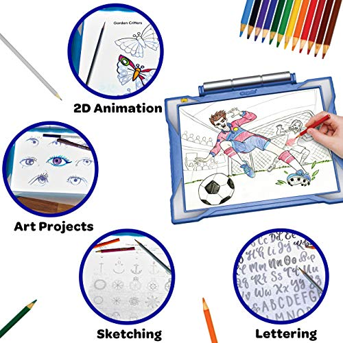 Crayola Light Up Tracing Pad Blue, Toys, Gift for Boys & Girls, Ages 6+