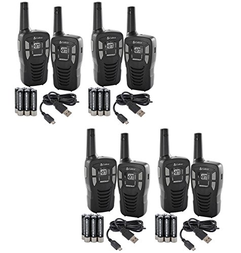NEW! (8) COBRA CXT145 MicroTalk 16 Mile 22 Channel Walkie Talkie 2-Way Radios! (Renewed)