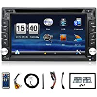 6.2 inch Double din Car Dvd Gps Navigation Stereo Player support Subwoofer/USB/SD/DVD/Bluetooth/Steering Wheel control for free Back up camera