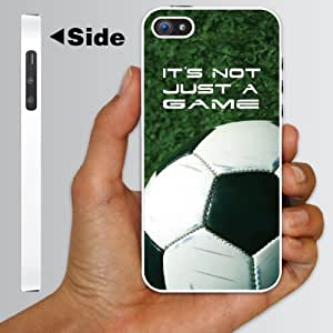 "iPhone 5 Case - Soccer Themed ""It's Not Just a Game"" - White Protective Hard Case by runtopwell"