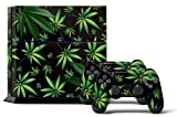Cheap PS4 Console Designer Skin for Sony PlayStation 4 System plus Two(2) Decals for: PS4 Dualshock Controller Weeds Black