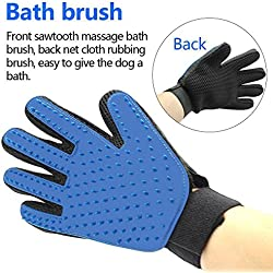 Pet Grooming Glove - Pet Hair Remover Glove - Efficient Massage Tool - Perfect for Dogs & Cats with Long & Short Fur - FREEGIM