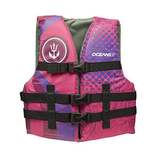 Oceans 7 US Coast Guard Approved, Youth Life Jacket, Type III Vest, PFD, Personal Flotation Device, Pink