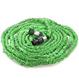 Genled Garden Hose, 75Ft, Heavy Duty Expanding Water Coil Best Flexible Expandable Retractable Collapsible Shrinking Hoses Strongest Lightweight (Green)