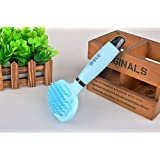 DOGGIE-DOGGIE Dog Brush,Pet Shampoo Massage Bathing Brush with Silicone Handle for Cleaning,Grooming,Shedding Long or Short Hair of Dog,Cat,Horse and Massage,Blue 19cm