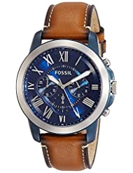 Fossil Men\'s FS5151 Grant Chronograph Stainless Steel Watch ...