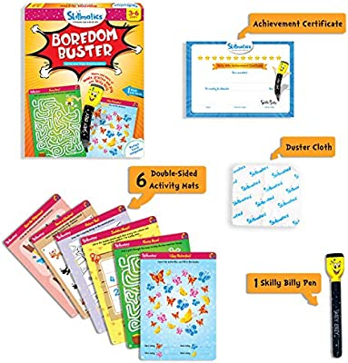 6 Years Skillmatics Educational Game: Animal Kingdom 4 Learning Tools for Boys and Girls 3 3-6 Years 5   Erasable and Reusable Activity Mats with 2 Dry Erase Markers