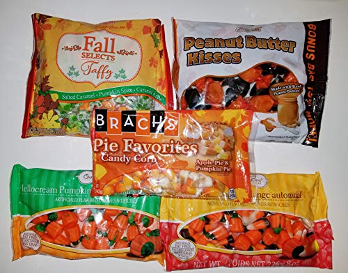 Fall Candy Bundle with Brach's, Coastal Bay Confections and Melster Candies! Includes Pumpkins, Candy Corn, Peanut Butter Kisses, and Festive, Autumn Flavored Taffy! -