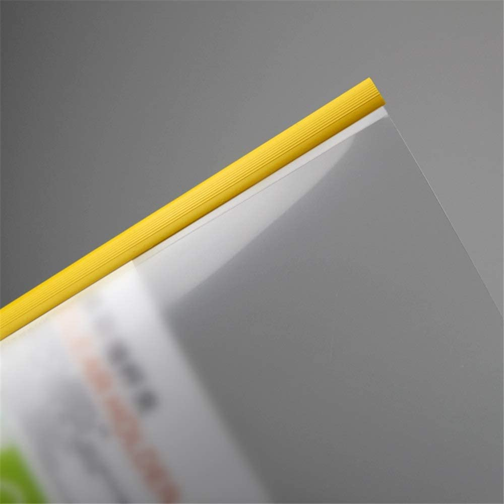 A4 File Organizer Premium Report Covers with Sliding Bar Transparent Resume Presentation File Folders Organizer Binder for A4 Size Paper 5 Colors 10 Pcs Accordion Folder for Work Office Organization