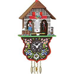 ISDD Cuckoo Clocks Black Forest Clock Black Forest House Weather House, incl. batterie