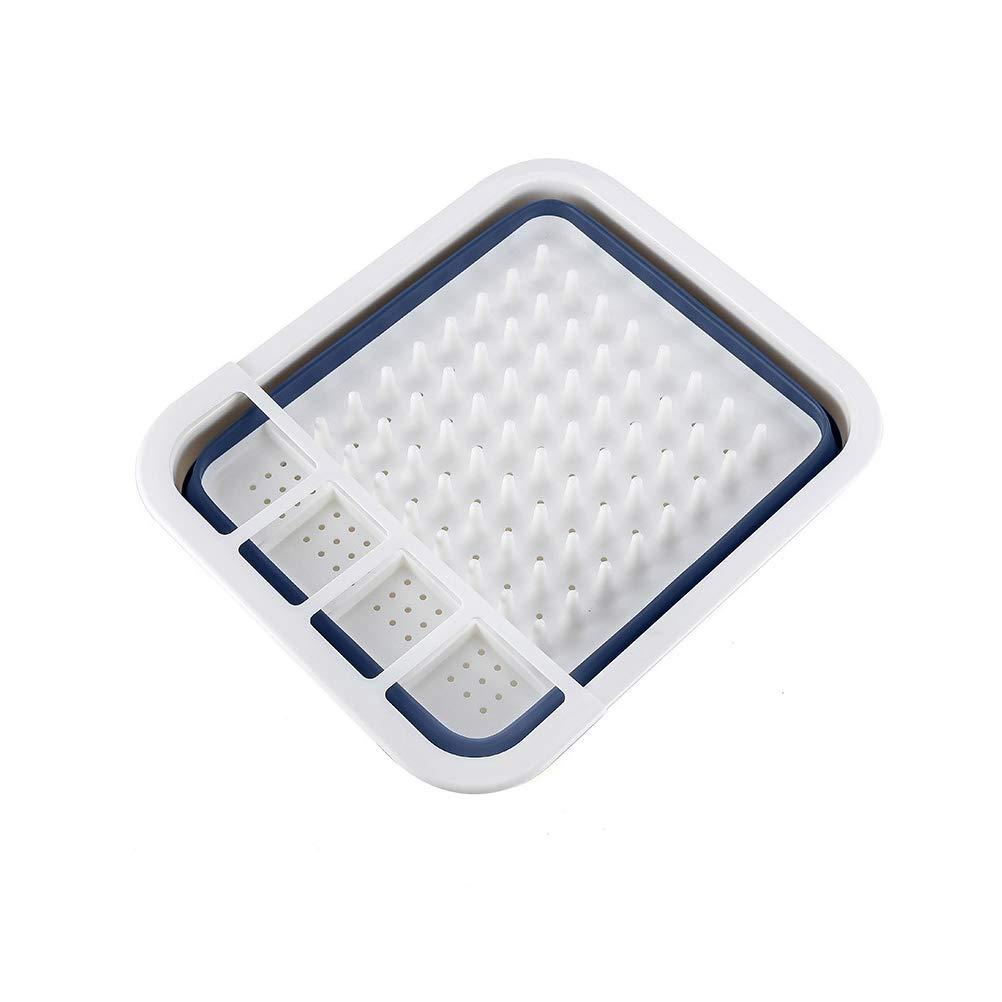 Suszian Escurreplatos Plegable de pl/ástico y Cubo Plegable para Cocina o Camping