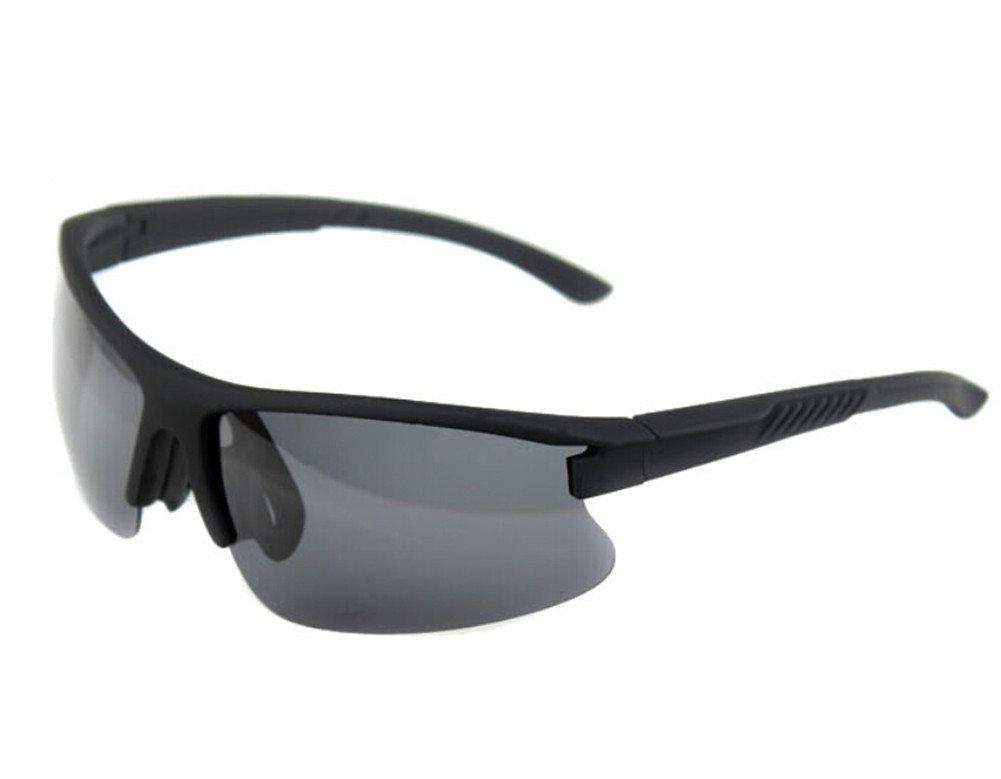 Moyishi Shatterproof PC Polarized Lenses Standard Aviator Outdoor Sports Sunglasses For Youth Men Women Unisex (Black)