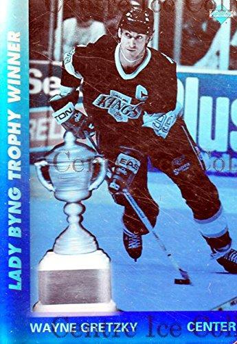 (CI) Wayne Gretzky, Lady Byng Trophy Hockey Card 1991-92 Upper Deck Czech World Juniors Wayne Gretzky Holograms 1 Wayne Gretzky, Lady Byng Trophy ()