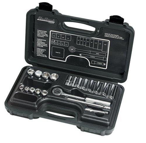 Blackhawk By Proto 3820NB 6 Point Drive Socket Set, 3/8-Inch, 20-Piece - Ratchet Blackhawk Wrench