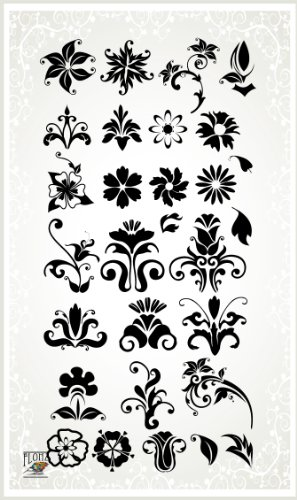 Damask Flourish // Clear stamps pack (4