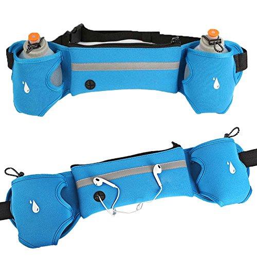 Mode Notebook Schultergurt Reflektierende Taille Pack täglichen Leben Gurt atmungsaktiv wasserdicht sudar-absorbente Taille Gürtel Tasche Fall Sporttasche Blau Ak8No7EVk